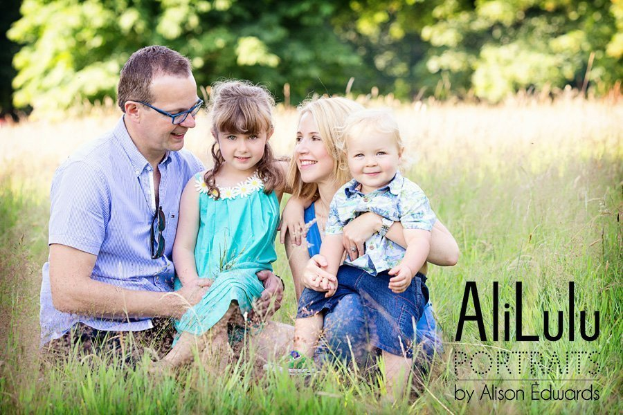 family photos in fields